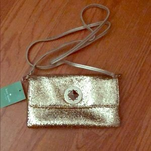 Kate Spade Missy sparkle gold crossbody NWT